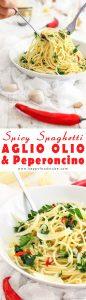 Spicy Spaghetti Aglio Olio & Peperoncino Recipe