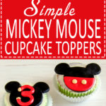 Mickey Mouse Cupcake & Cake Toppers - Super easy fondant cupcake decorating tutorial. Learn how to make simple Disney cake toppers. | happyfoodstube.com