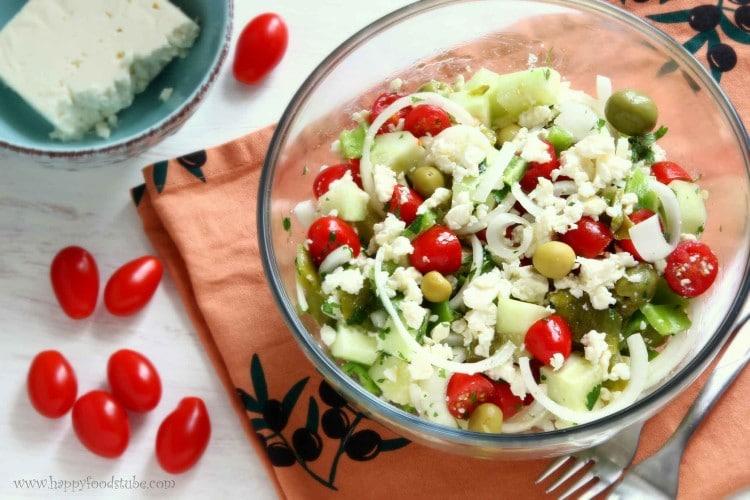 Shopska Salad Bulgarian Food   happyfoodstube.com