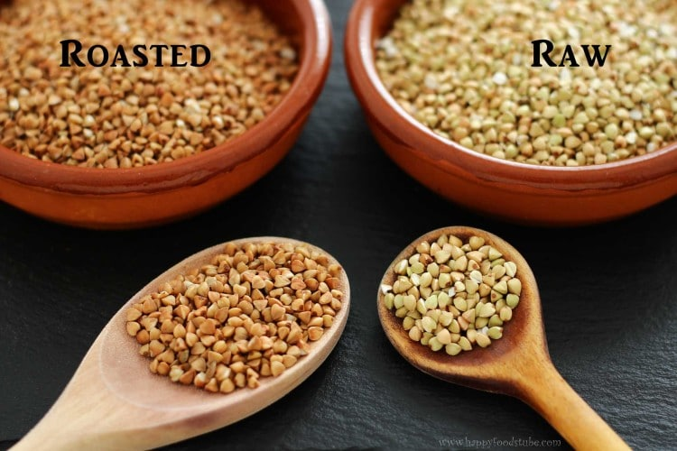 Buckwheat - Roasted or Raw | happyfoodstube.com