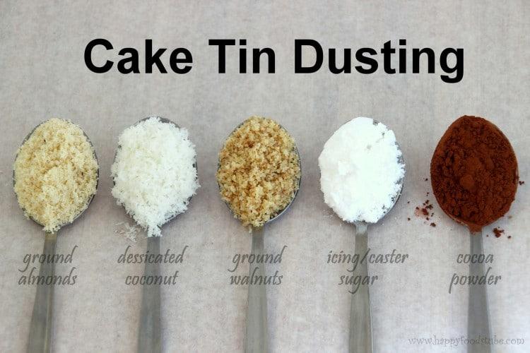 Cake Tin Dusting