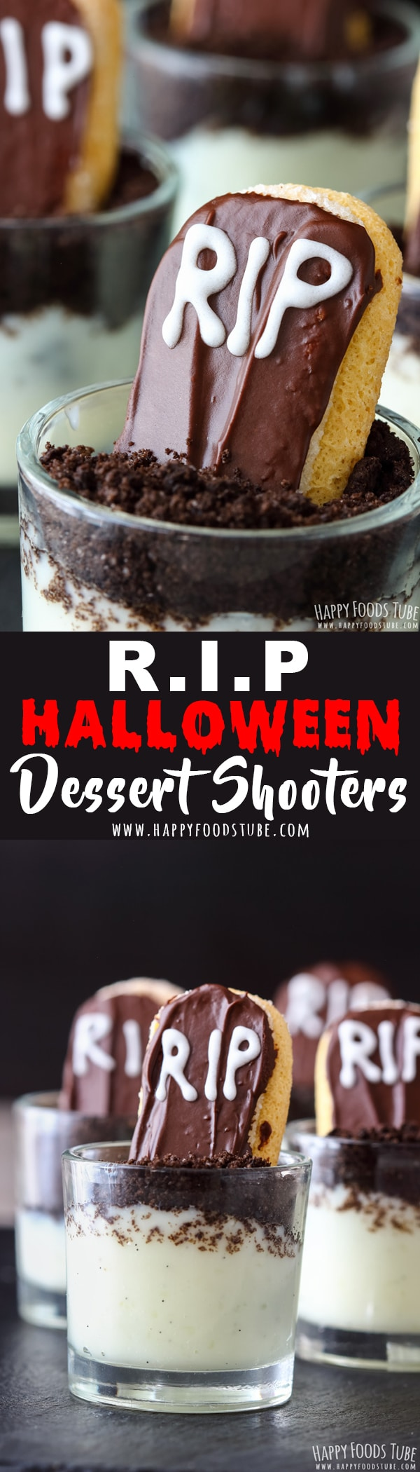 these rip halloween dessert shooters are perfect for your halloween party oreo pudding soil