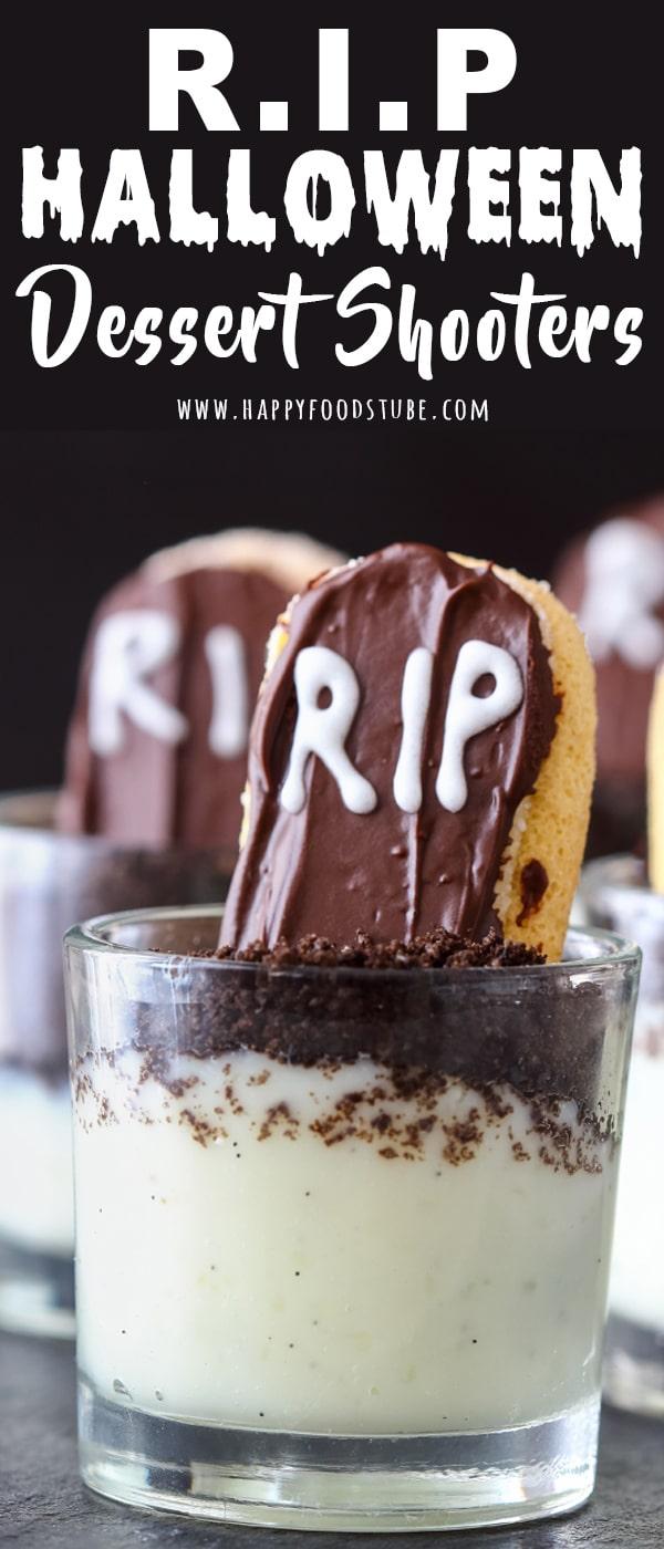 RIP Halloween Dessert Shooters Recipe