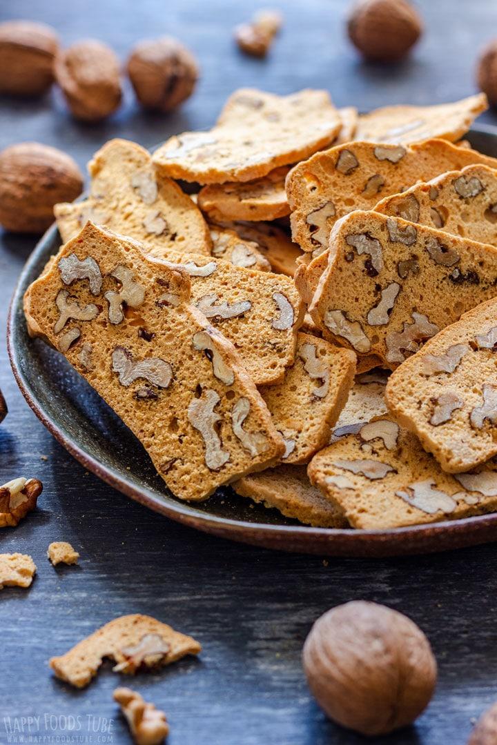 Homemade walnut biscotti