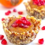 No Bake Persimmon & Pomegranate Dessert Cups