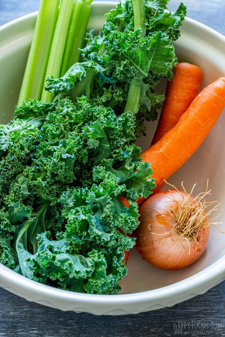 Fresh vegetables for minestrone