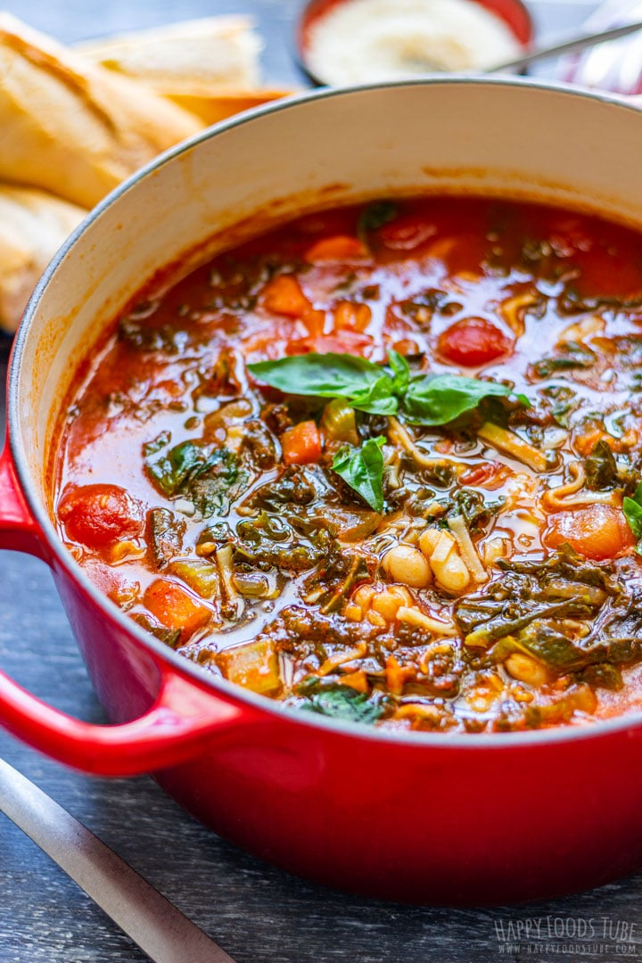 Homemade minestrone soup