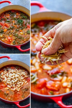 Steps how to make minestrone soup 2