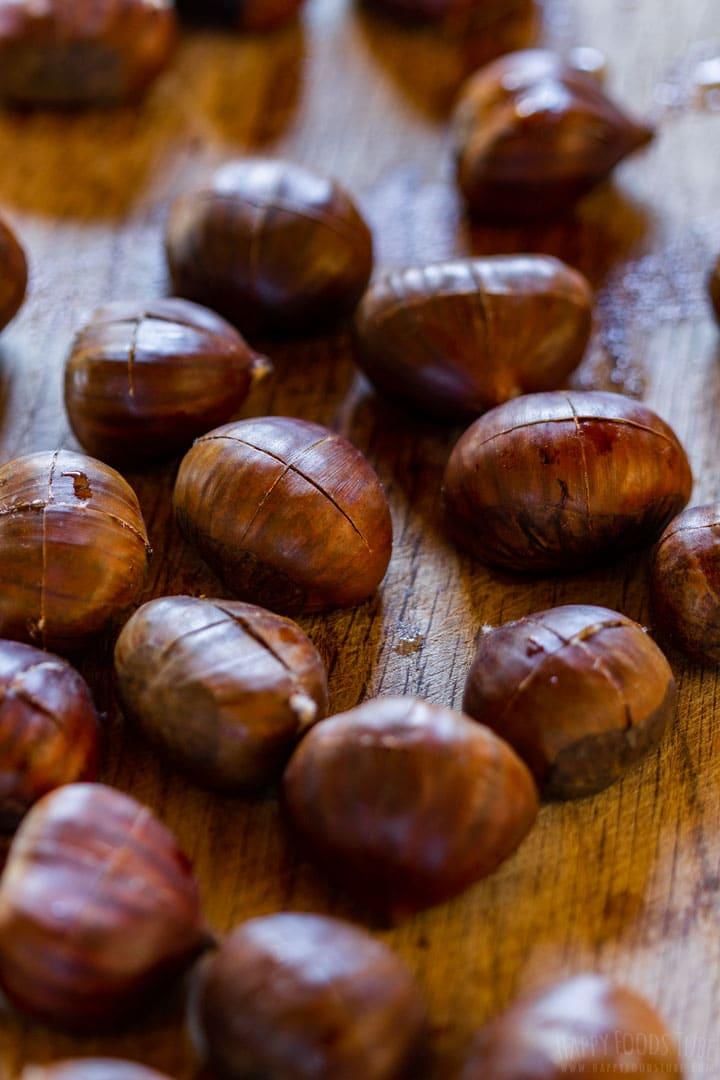 Preparing chestnuts for roasting 2