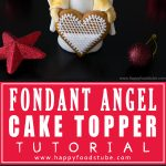 Christmas Fondant Angel Cake Topper! Watch this short video for step by step instructions. All you need is fondant & simple tools!   happyfoodstube.com
