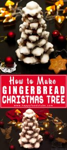 Make this Gingerbread Christmas Tree with your kids! It's a lovely Holiday decoration that will make a great centerpiece on your table! | happyfoodstube.com