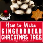 Make this Gingerbread Christmas Tree with your kids! It's a lovely Holiday decoration that will make a great centerpiece on your table!   happyfoodstube.com