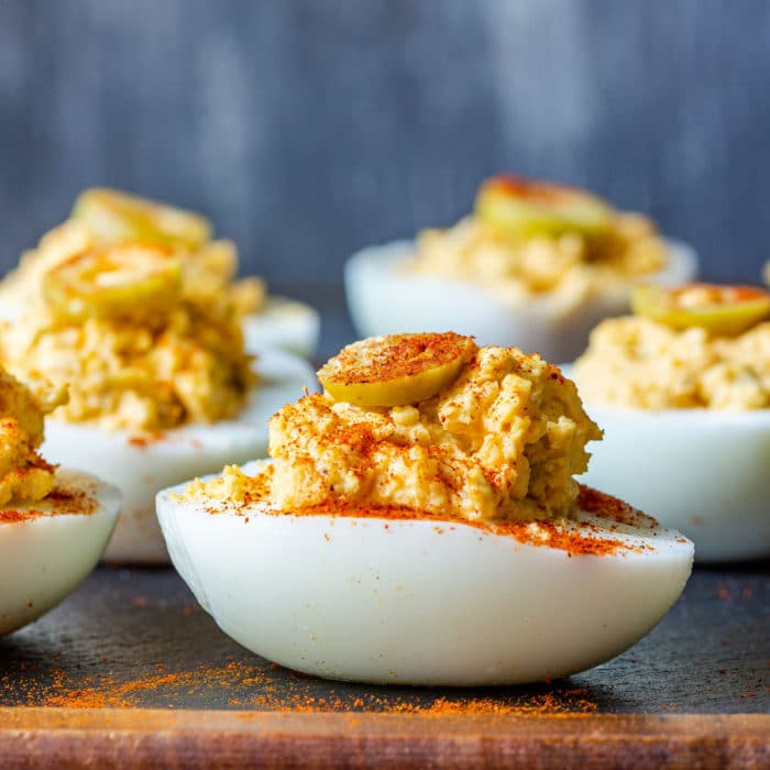 Deviled Eggs with Olives