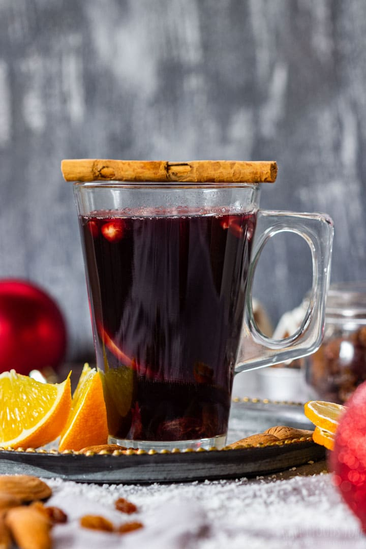 Homemade mulled wine, perfect winter drink
