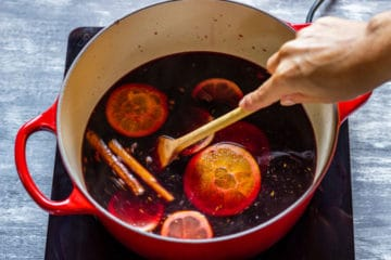 How to make mulled wine step 2