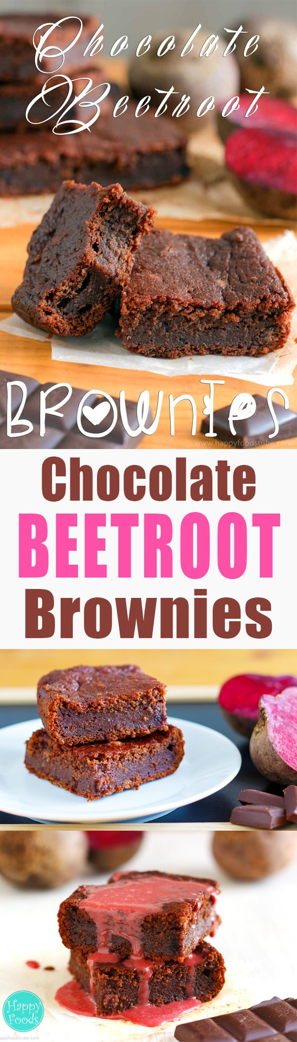 Eggless Dark Chocolate Beetroot Brownies with a hint of beetroot are the right treat for anyone who loves combining ordinary ingredients in a bit unusual way. Family favorite brownie recipe