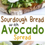 Sourdough Bread with Avocado Spread - Start your day with this mouth-watering toasted sandwich! Simple, healthy & very tasty! | happyfoodstube.com