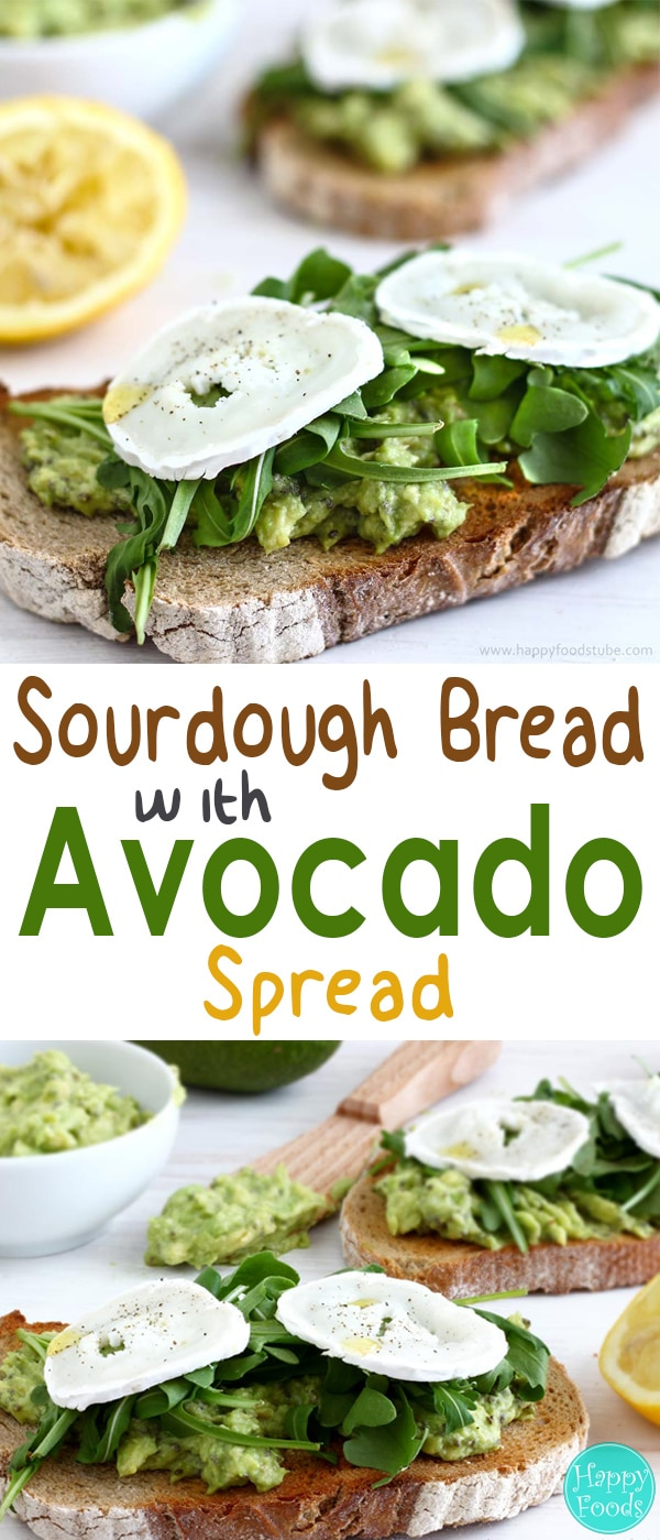 Start your day with this mouth-watering toasted Sourdough Bread with Avocado Spread! Super simple, healthy and very tasty