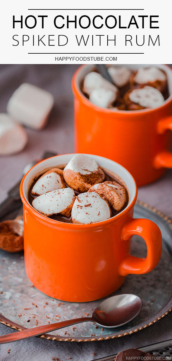 Best Hot Chocolate Spiked with Rum
