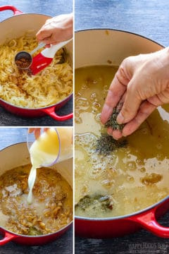 Step by step how to make French onion soup