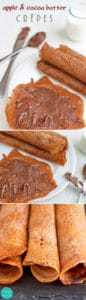 Apple & Cocoa Batter Crepes - Super delicious crepes / pancake recipe, healthy ingredients, pancake tuesday, pancake day, vegetarian   happyfoodstube.com