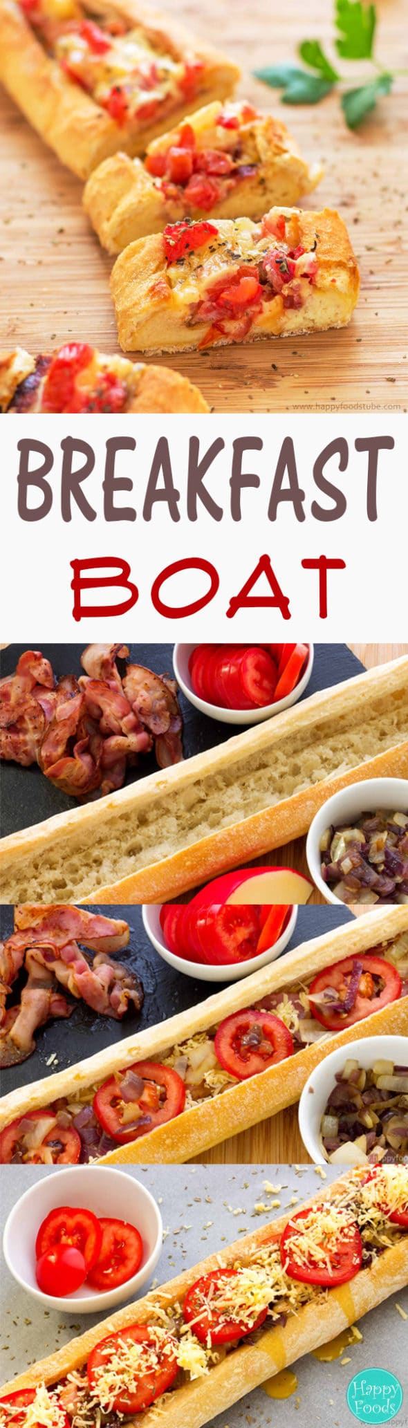 If you can't have breakfast on a boat why don't you have Breakfast Boat instead? Easy peasy and fun way to prepare your breakfast or brunch