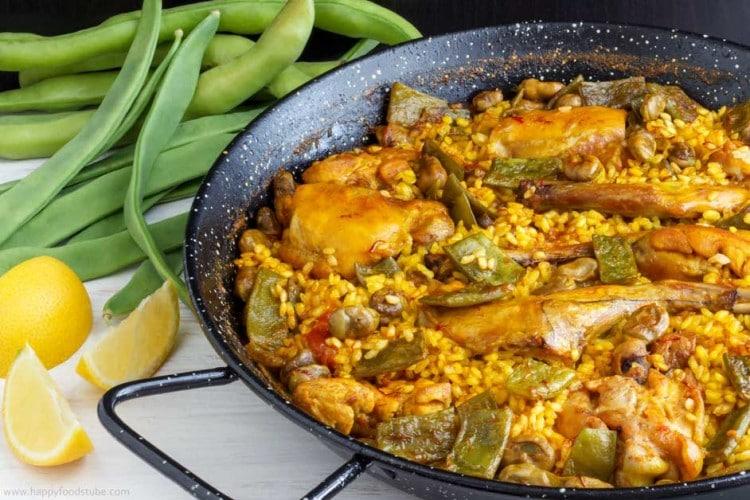 Homemade Paella on Pan