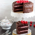 Red Wine Chocolate Raspberry Cake {Video}