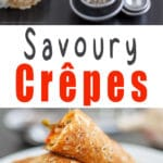 Savory Crepes with Chia Seeds and Garlic - Super tasty crepes / pancake recipe, no sweet, healthy ingredients, pancake tuesday, vegetarian   happyfoodstube.com
