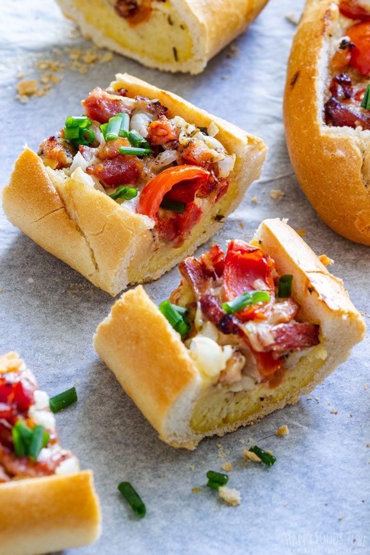 Bacon, Tomato and Egg Baquette