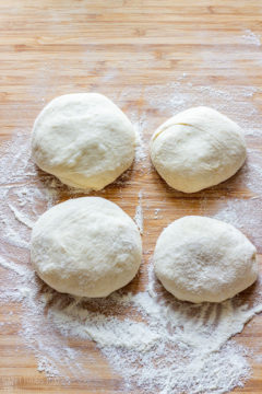 Working with langos dough step 2
