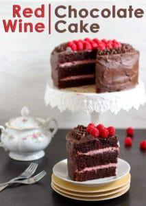 Red Wine Chocolate Cake Pin