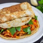 Savory crepes filled with roasted veggies