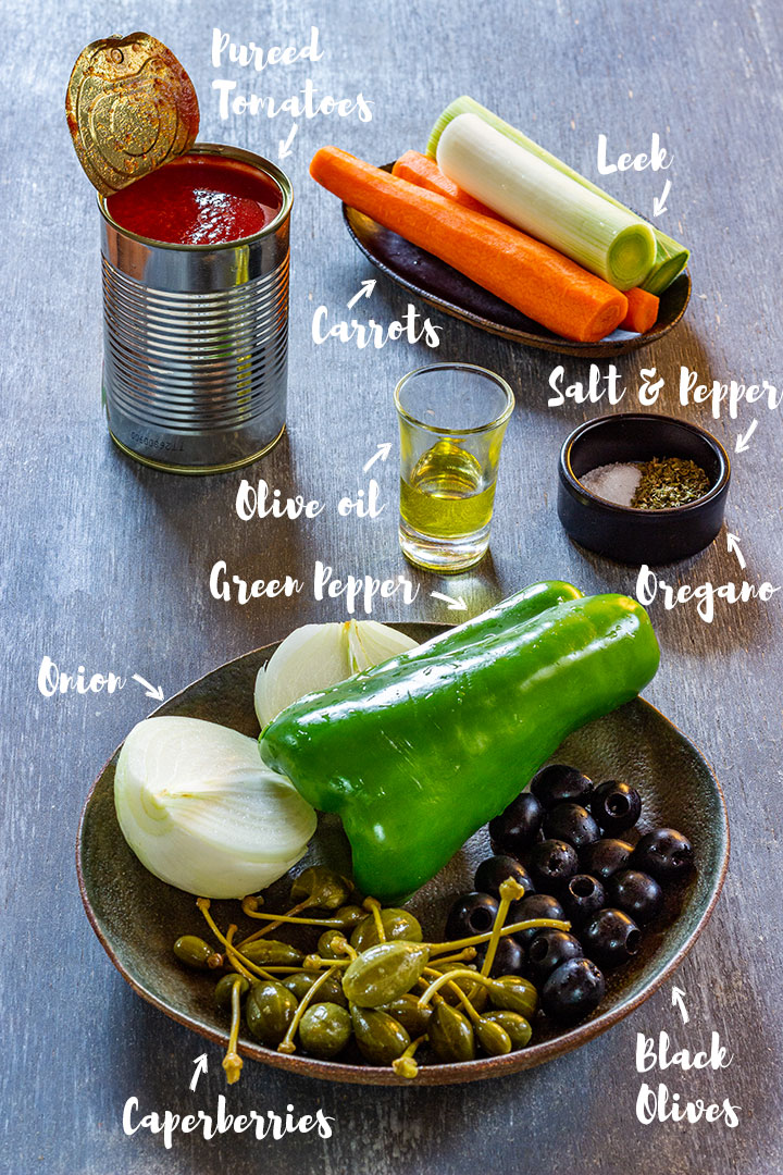 Vegan pasta sauce ingredients