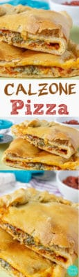 Calzone Pizza - Calzone pizza is a scrumptious pocket of pizza dough filled with various fillings. There is no rocket science behind making one yourself! Easy recipe! | happyfoodstube.com