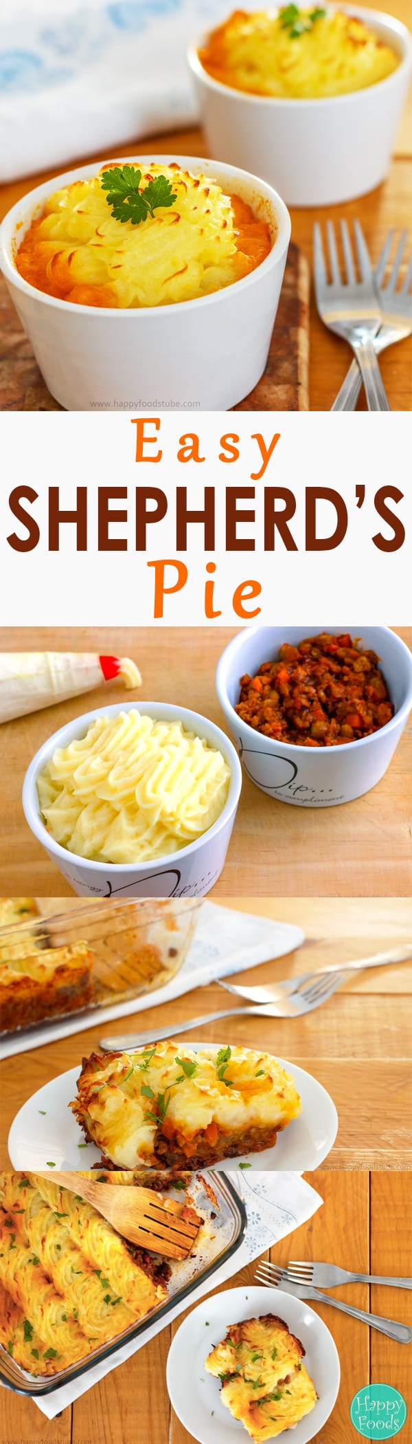 Easy Shepherd's Pie Recipe - Real comfort food, family favorite recipe, lunch & dinner, home cooking, homemade, easy recipes | happyfoodstube.com
