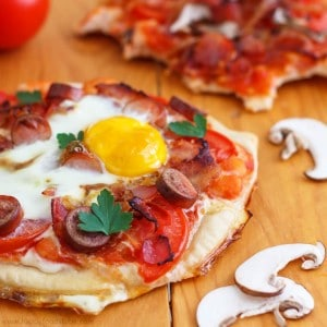 Homemade Breakfast Pizzas Square