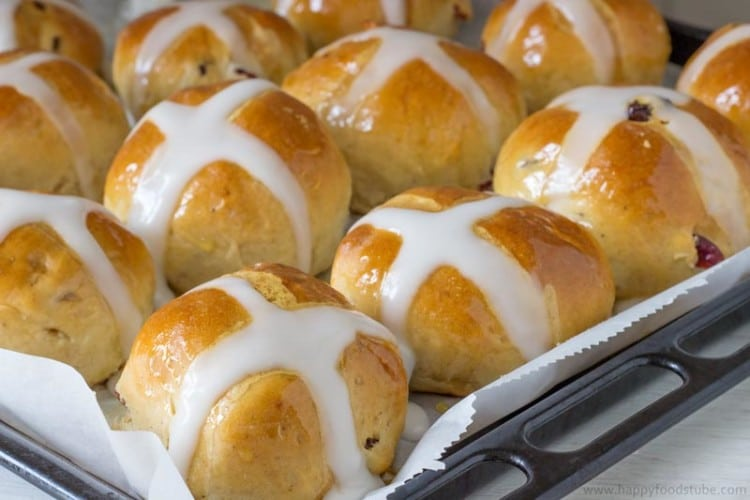 Hot Cross Buns Fresh from Oven