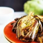 Oven Roasted Artichokes with Homemade Garlic Dip