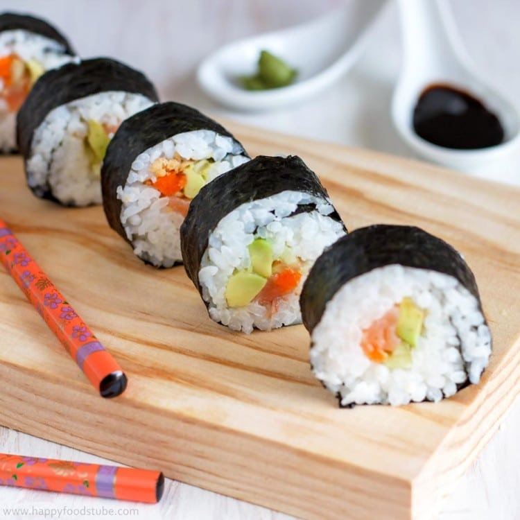 Sushi Closeup | happyfoodstube.com