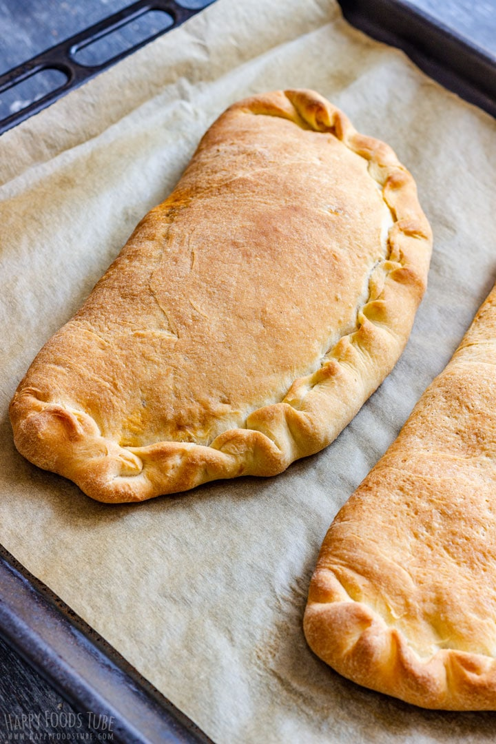 Freshly Baked Calzone Pizza