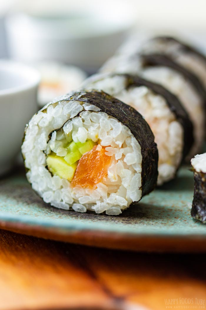 Homemade Sushi Closeup