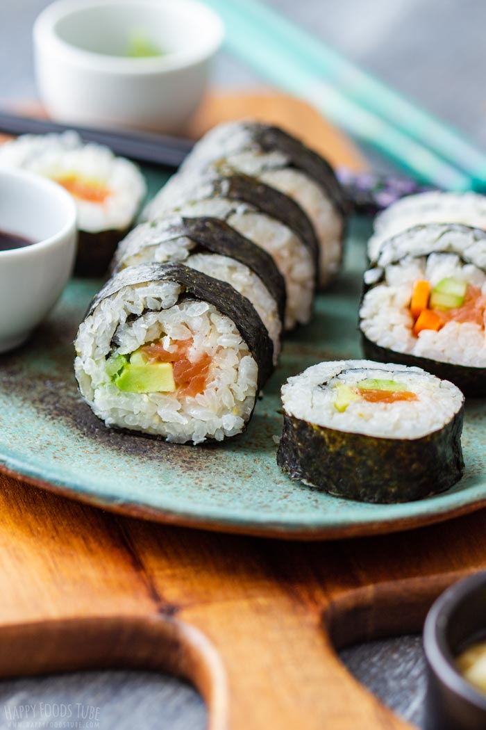 Homemade Sushi on the Plate