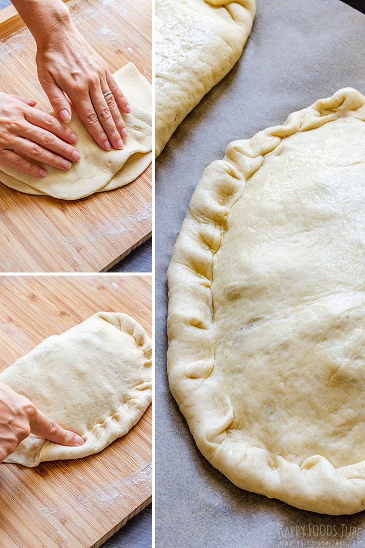How to make Calzone Pizza Step 3 (Sealing)
