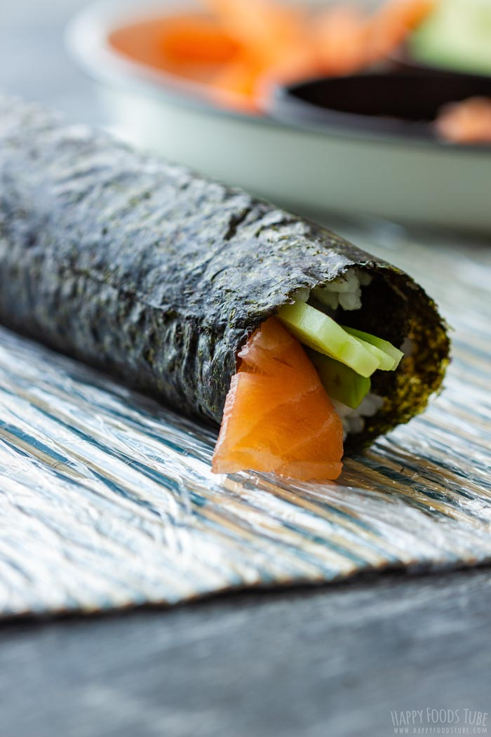 How to make Homemade Sushi Step 5 - Sushi roll