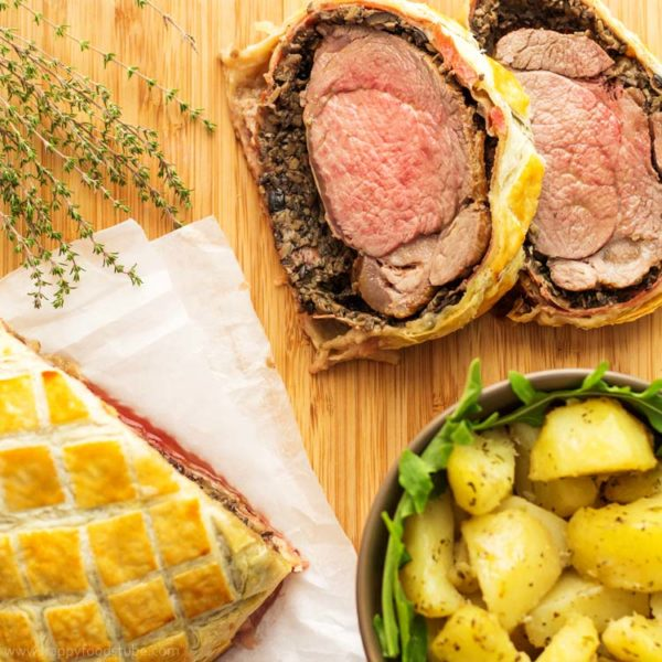 Easy Beef Wellington with Mushroom & Jamón