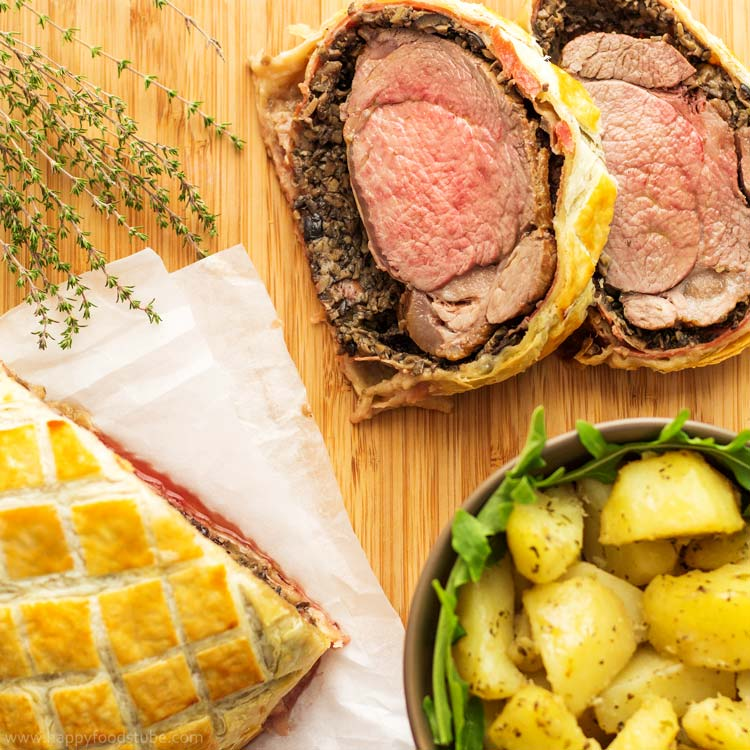 Easy beef wellington with mushroom jamn happy foods tube easy beef wellington with mushroom jamn fine dining classical british food home forumfinder Images