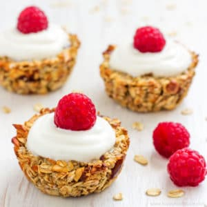 Heavenly Baked Breakfast Oatmeal Cups - Healthy breakfast, easy recipe loaded with delicious ingredients, granola energy bars, good morning food   happyfoodstube.com