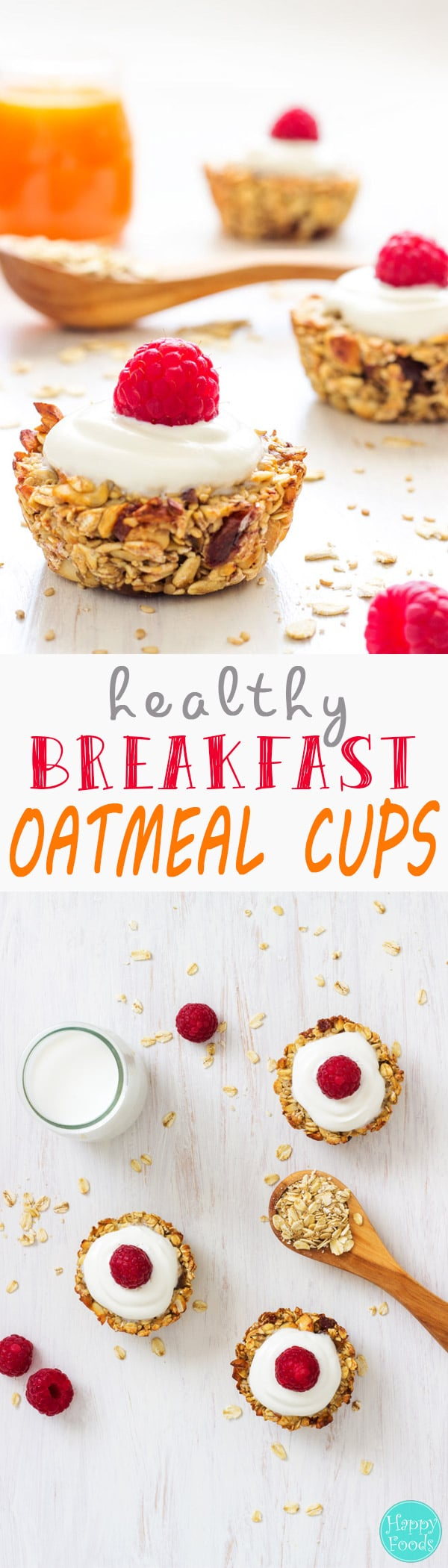 Start your day with these easy to make healthy breakfast oatmeal cups! If you love granola bars, you will also love these little cups packed with nutrients