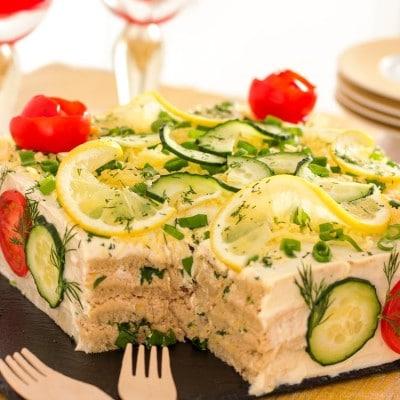 Savory Tuna Sandwich Cake (Smörgåstårta)